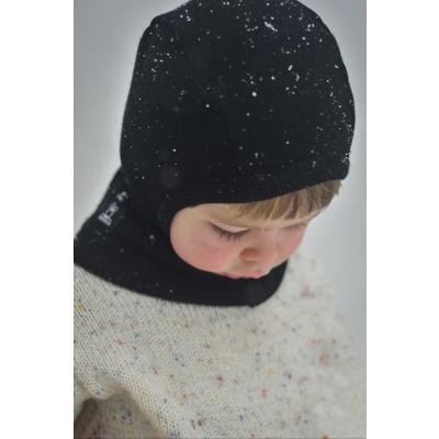 Meriinovillane tuukrimüts, must